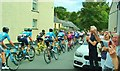 SO1122 : Tour of Britain road race, Talybont-on-Usk by Peter Evans