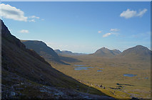 NG9361 : Looking out from the lip of Coire Mhic Fhearchair by Julian Paren