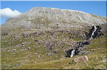 NG9361 : Waterfalls below Loch Coire Mhic Fhearchair by Julian Paren