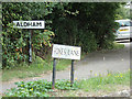 TL9226 : Aldham & Foxes Lane signs by Adrian Cable