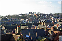 TQ4210 : View over rooftops of Cliffe and Lewes by Robin Webster