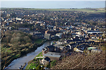 TQ4210 : View over Cliffe and Lewes, 2007 by Robin Webster