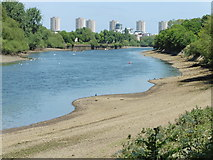 TQ1776 : View from the Thames Path National Trail near Queen's Cottage by Dave Kelly