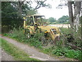 TL2222 : Abandoned bulldozer near Pigeonswick Cottage, Knebworth by Humphrey Bolton