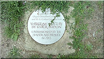 TG1807 : Yorkstone Sculpture Plaque by Adrian Cable