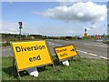 SK2773 : Confusing diversion signage by Graham Hogg