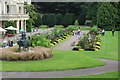 ST0972 : Flower beds, south front, Dyffryn House by M J Roscoe