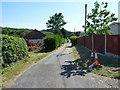 SJ2623 : Village track between Cefn Lane and Porth Y Waen by Richard Law