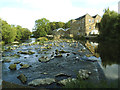 SE1338 : Remains of Hirst Mill Weir by Stephen Craven