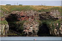 NT9955 : Caves on the Berwickshire Coast by Walter Baxter