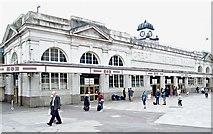 ST1875 : Railway Station, Cardiff, Wales by David Hallam-Jones