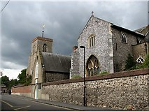 TG2309 : The Great Hospital and St Helen's church by Evelyn Simak