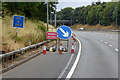 SO9678 : M5 Roadworks at A20.3 by David Dixon