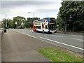 SD7909 : Metrolink Replacement Bus on Warth Bridge by David Dixon