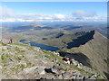 SH6253 : View towards Y Lliwedd from the summit of Snowdon : Week 36