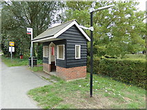 TL8928 : Wakes Colne Bus Shelter by Adrian Cable