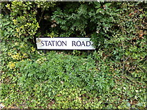 TL8928 : Station Road sign by Adrian Cable