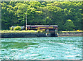 SX1253 : Railway and river at Fowey by Chris Allen