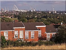 TQ1686 : Rowan Close houses and a view of Wembley by Chris Brown