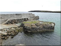 NB5363 : Pier and slipway at Port of Ness by Oliver Dixon