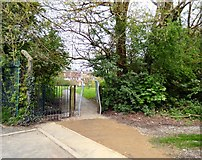 SJ9594 : Kissing gate replaced by squeeze stile by Gerald England
