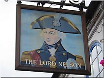 SU4208 : The Lord Nelson sign by Oast House Archive