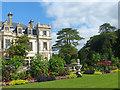 ST0972 : Flower borders by Dyffryn House by Robin Drayton
