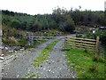 SH7909 : Entry into the forestry on Mynydd Pen-lan by John Lucas