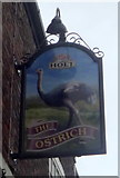 SD8203 : Sign for the Ostrich public house, Prestwich by JThomas