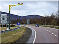 NN6996 : Average Speed Cameras on the A9 near Raliabeag by David Dixon