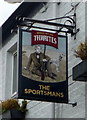SD7213 : Sign for the Sportsmans public house by JThomas