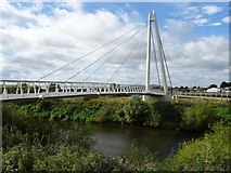 SO8453 : Diglis Footbridge by Philip Halling
