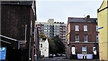 SO8318 : Looking south-east across Worcester Street, Gloucester by Chris Brown