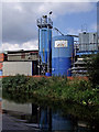 SK5702 : Industrial structures north of Aylestone Park in Leicester by Roger  Kidd