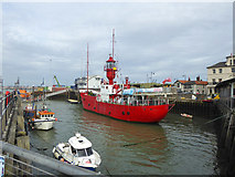 TM2532 : LV 18 moored at Harwich by Robin Webster