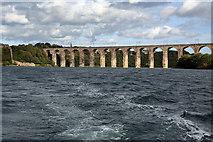 NT9953 : The Royal Border Bridge at Berwick-upon-Tweed by Walter Baxter