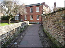 SK8608 : Path leading to Oakham Market Place by Chris Gunns