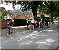 SO9419 : Sunday cyclists in Leckhampton, Cheltenham by Jaggery