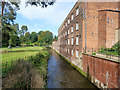 SJ8382 : River Bollin and Quarry Bank Mill by David Dixon