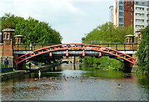 SK5803 : Mill Lane Bridge in Leicester by Roger  Kidd