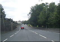 NS3421 : A70 Holmston Road at Ayr Cemetery by Colin Pyle