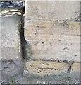 NZ5134 : Ordnance Survey Cut Mark by Adrian Dust