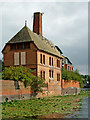SK5704 : Friars Mill pump house in Leicester by Roger  Kidd