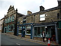 SD7916 : Businesses on the north side of Bridge Street, Ramsbottom by Christine Johnstone