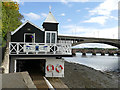 NT9952 : BARC boathouse - west end by Stephen Craven