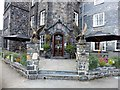 SH7961 : Imposing entrance to the Eagles Hotel, Llanrwst by Richard Hoare