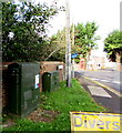 ST8652 : Station Road telecoms cabinets, Westbury by Jaggery