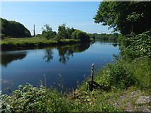 NS3977 : The River Leven below Dalquhurn Point by Lairich Rig