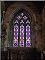 SJ0075 : Stained glass window at Bodelwyddan Church by Eirian Evans