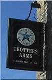 NZ1426 : Sign for the Trotters Arms, Ramshaw  by JThomas